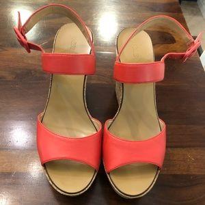 J Crew Poppy Maryanne Cork  wedge sandals